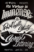 It's Virtue is Immense: A Tribute to Script Lettering